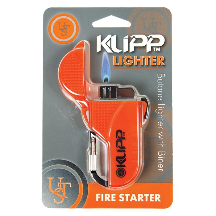 【UST 美國】KLIPP 鉤環電子防風打火機-橘 (20-W15-08)