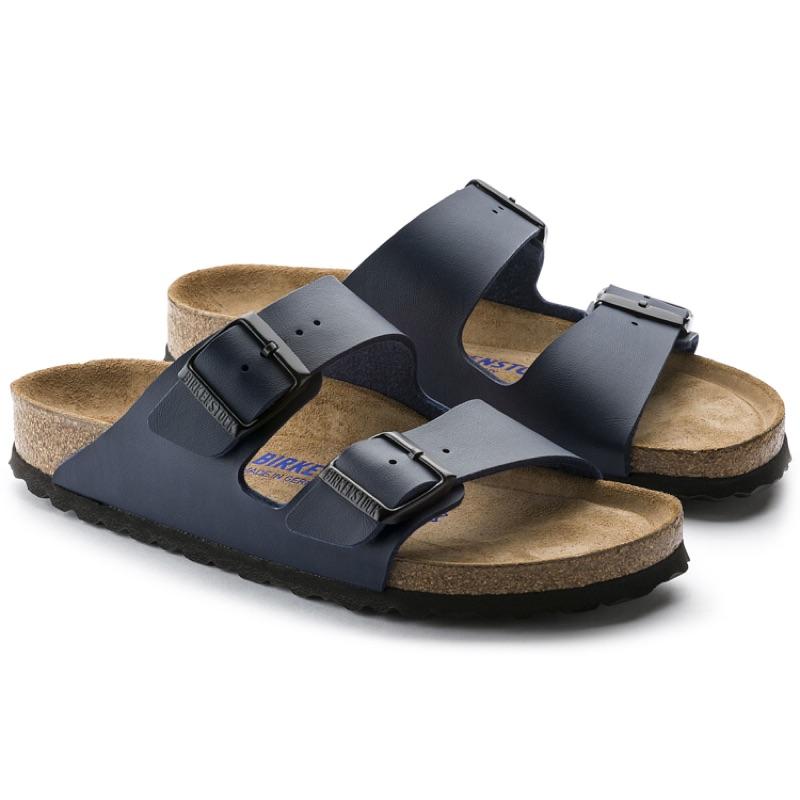德國勃肯 BIRKENSTOCK 經典二條拖鞋 -深藍(合成皮)