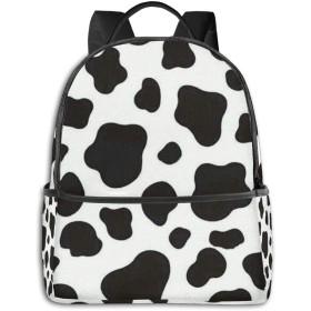 乳牛紋 リュック バックパックリュックサック 大容量 PCバッグ レジャーバッグ 旅行カバン 登山リュック ビジネスリュック ユニセックス おしゃれ 人気