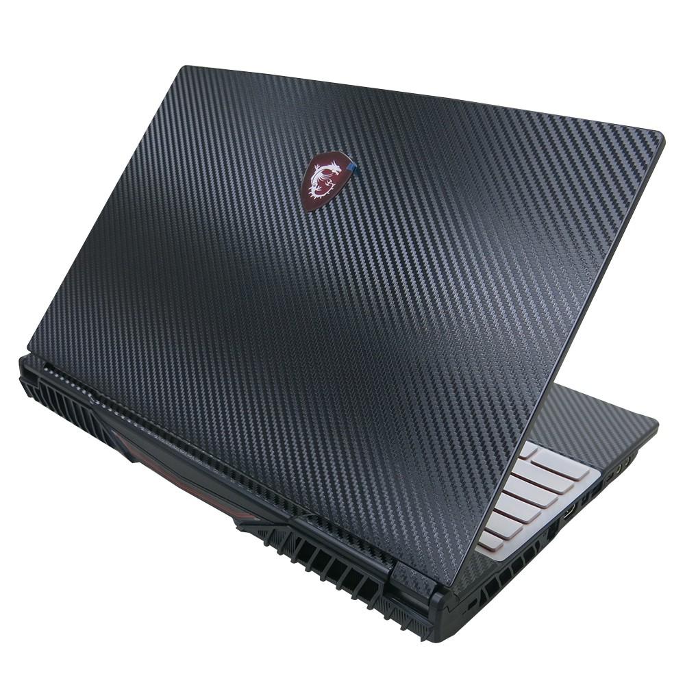 【Ezstick】MSI GL65 9SD 9SCK Carbon黑色立體紋機身貼 (含上蓋貼、鍵盤週圍貼) DIY包膜