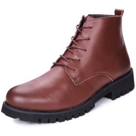 [WEWIN] ブーツ メンズ 本革 革靴 サイドジップ シューズ ショートブーツ 厚底ブーツ エンジニアブーツ マーティンブーツ 男性用 ビジネス カジュアル アウトドア 防水 防滑 靴 おしゃれ