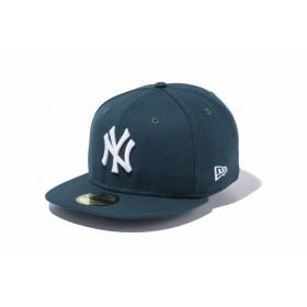 NEW ERA ニューエラ 59FIFTY MLB ニューヨーク・ヤンキース ダークグリーン × ホワイト ベースボールキャップ キャップ 帽子 メンズ レディース 7 (55.8cm) 11308546 NEWERA