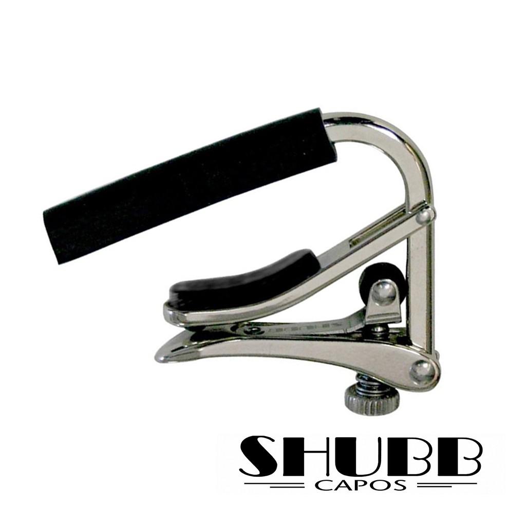 SHUBB移調夾 CAPO C1 滾輪式 鎳金屬材質 銀色 電吉他 民謠吉他適用 烏克麗麗 -【黃石樂器】