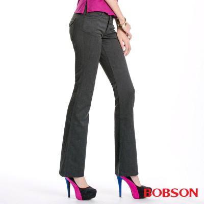 BOBSON 女款混紡毛料小喇叭褲9072-87