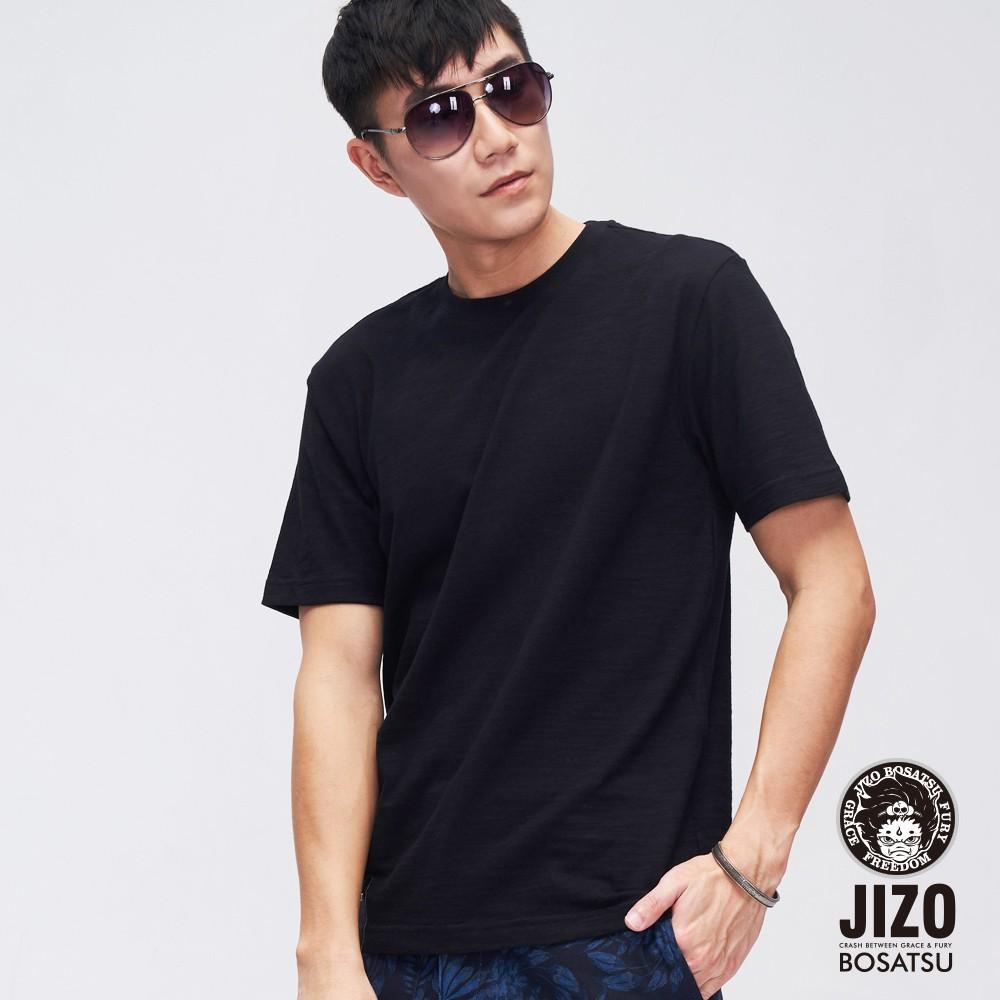 BLUE WAY 地藏小王織標基本款短袖TEE恤單件包(黑)