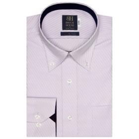 [マルイ] 形態安定 ノーアイロン 長袖ワイシャツ ドゥエボットーニ ボタンダウン パープル 標準体/ブリックハウス(BRICKHOUSE)