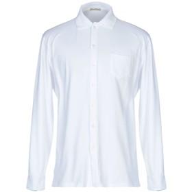 《期間限定セール開催中!》CASHMERE COMPANY メンズ シャツ ホワイト 46 コットン 100%