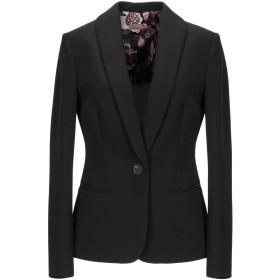 《セール開催中》ALTEA レディース テーラードジャケット ブラック 40 ポリエステル 88% / ポリウレタン 12%