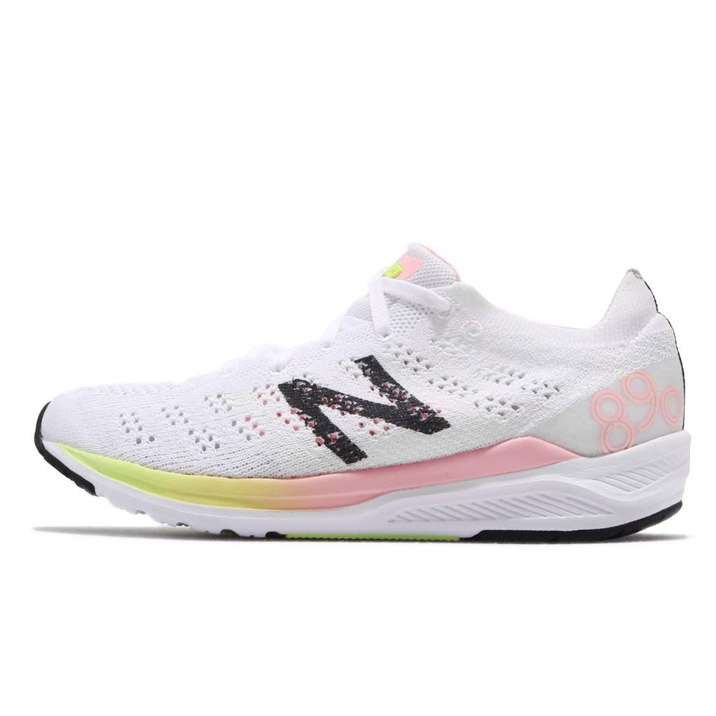 New Balance 慢跑鞋 890 v7 NB 白 黑 女鞋 W890WO7B 【ACS】