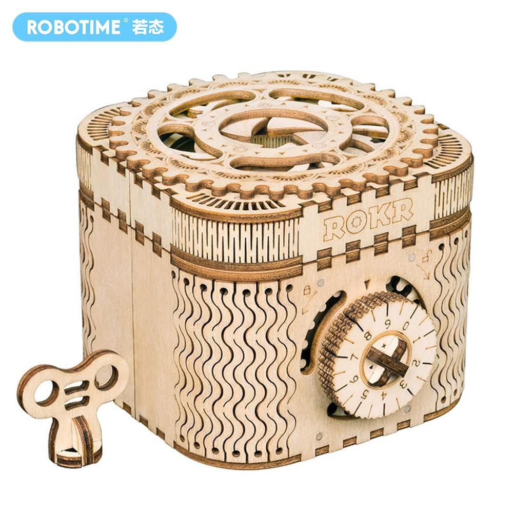 Robotime 若態 密碼盒 儲物盒 藏寶盒 立體拼圖組裝模型 桌面擺件 生日禮物 LK502