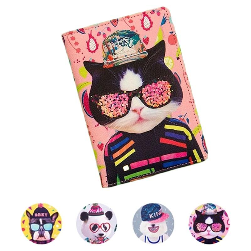 FUFUBAG-護照夾-可愛動物皮革護照包/護照套證件夾/卡片夾/票卡夾/鬥牛犬/出國旅行-共4色