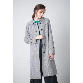 SANYO COAT <Rain Wool>ウールカシミヤナイロンバルマカーンコート ステンカラーコート,モノトーン