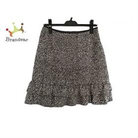 エムズグレイシー M'S GRACY スカート サイズ38 M レディース 美品 黒×白 フリル 新着 20191001