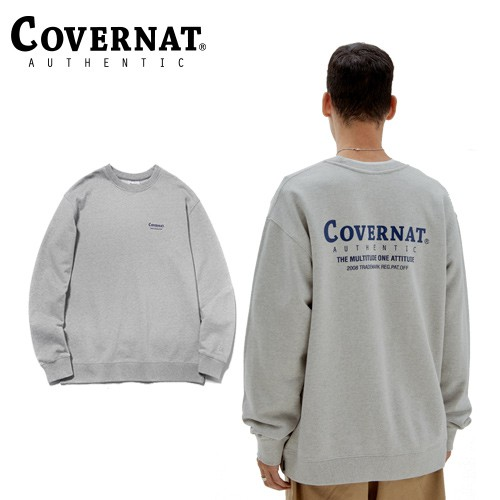 [COVERNAT] LAYOUT LOGO 圓領衛衣(灰)