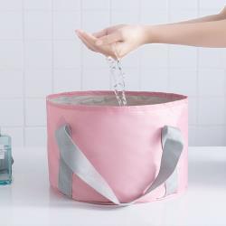 PUSH!戶外旅遊用品便攜折疊水桶水盆洗臉泡腳洗衣水盆(可折疊)S75