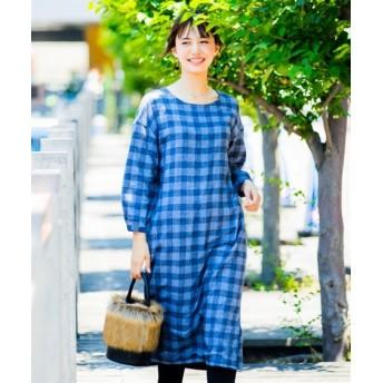 裏フリースクルーネックワンピース (ワンピース)Dress