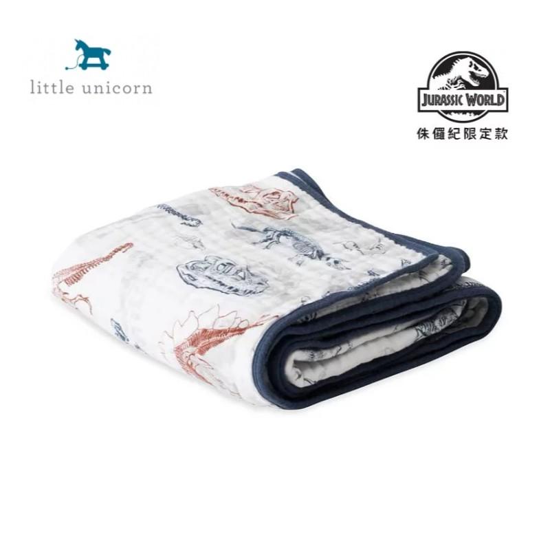 Little Unicorn 純棉四層紗布毯-考古化石 (侏儸紀聯名款)