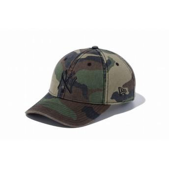 NEW ERA ニューエラ 9TWENTY クロスストラップ ウォッシュドコットン ニューヨーク・ヤンキース ウッドランドカモ × ブラック アジャスタブル サイズ調整可能 ローキャップ ベースボールキャップ キャップ 帽子 メンズ レディース 56.8 - 60.6cm 11308523 NEWERA