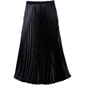 【レディース大きいサイズ】 プリーツスカート ■カラー:ブラック ■サイズ:L,LL,3L,4L,5L