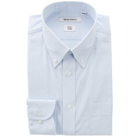 【SALE開催中】【THE SUIT COMPANY:トップス】ボタンダウンカラードレスシャツ 無地 〔EC・FIT〕