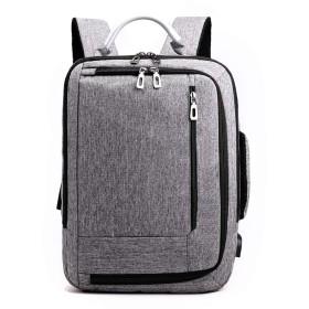 Ounas リュック メンズ バックパック 防水 リュックサック ビジネスリュック 旅行カバン メンズ レディース USB付 大容量 多機能 軽量 ランニング/登山/旅行に快適 ユニセックス (01グレー)