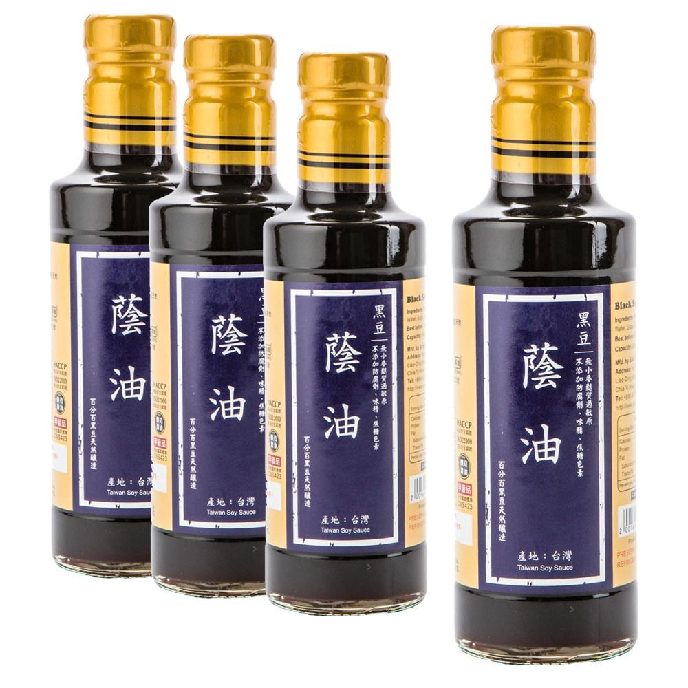 在地純釀造-黑豆蔭油300ml 4入組