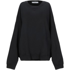 《セール開催中》KATHARINE HAMNETT LONDON レディース スウェットシャツ ブラック M オーガニックコットン 100%