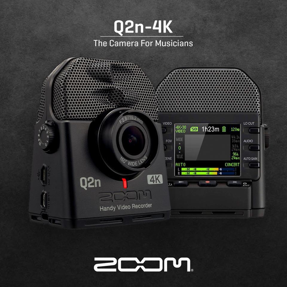 ZOOM Q2n-4K 手持攝錄機 錄影機 錄音機 收音 採訪錄音攝影表演會議排練相機 (Q2進階款)【公司貨】