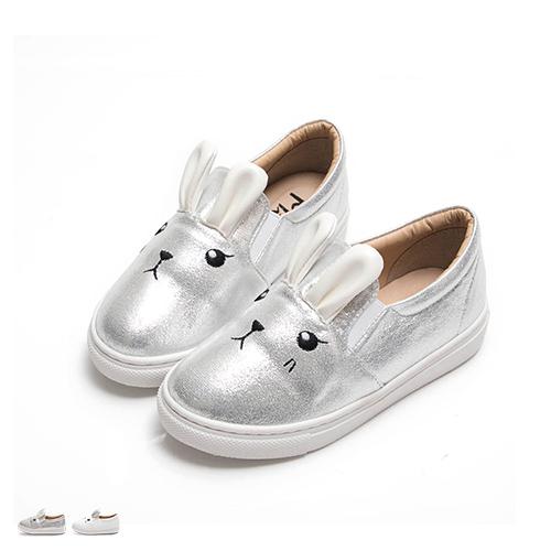 休閒鞋.可愛小兔平底懶人包鞋(小孩)