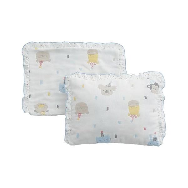 奇哥 動物派對六層紗嬰兒枕(附枕套)【麗兒采家】