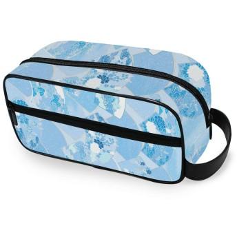 化粧ポーチ トイレタリーバッグ トラベルポーチ 防水 大容量 小物入れ 洗面用具 収納ポーチ 出張 海外 旅行グッズ 男女兼用 和風