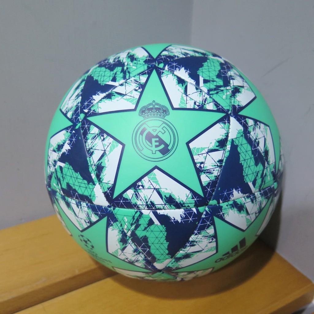 ADIDAS FINALE RM CPT 足球 皇馬隊徽 DY2541 5號 藍綠【iSport愛運動】