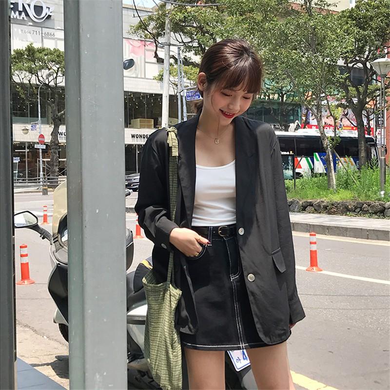 【免運】西裝外套 133774 氣質百搭雪紡薄款西裝休閒上衣
