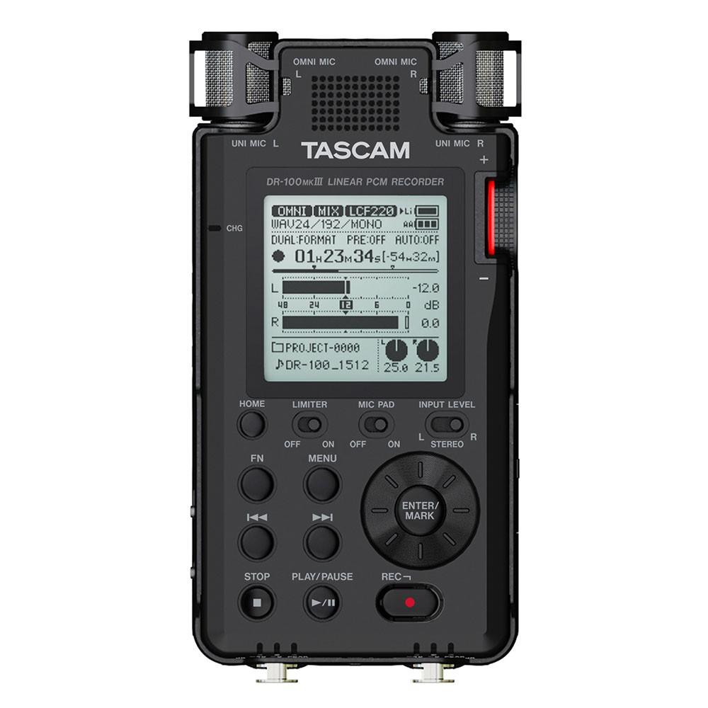 TASCAM 攜帶型數位錄音機 DR-100MK3 公司貨