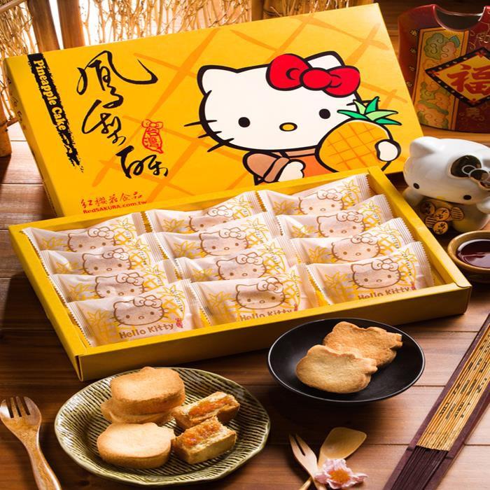 【紅櫻花】 Hello Kitty 造型鳳梨酥禮盒 iCarry