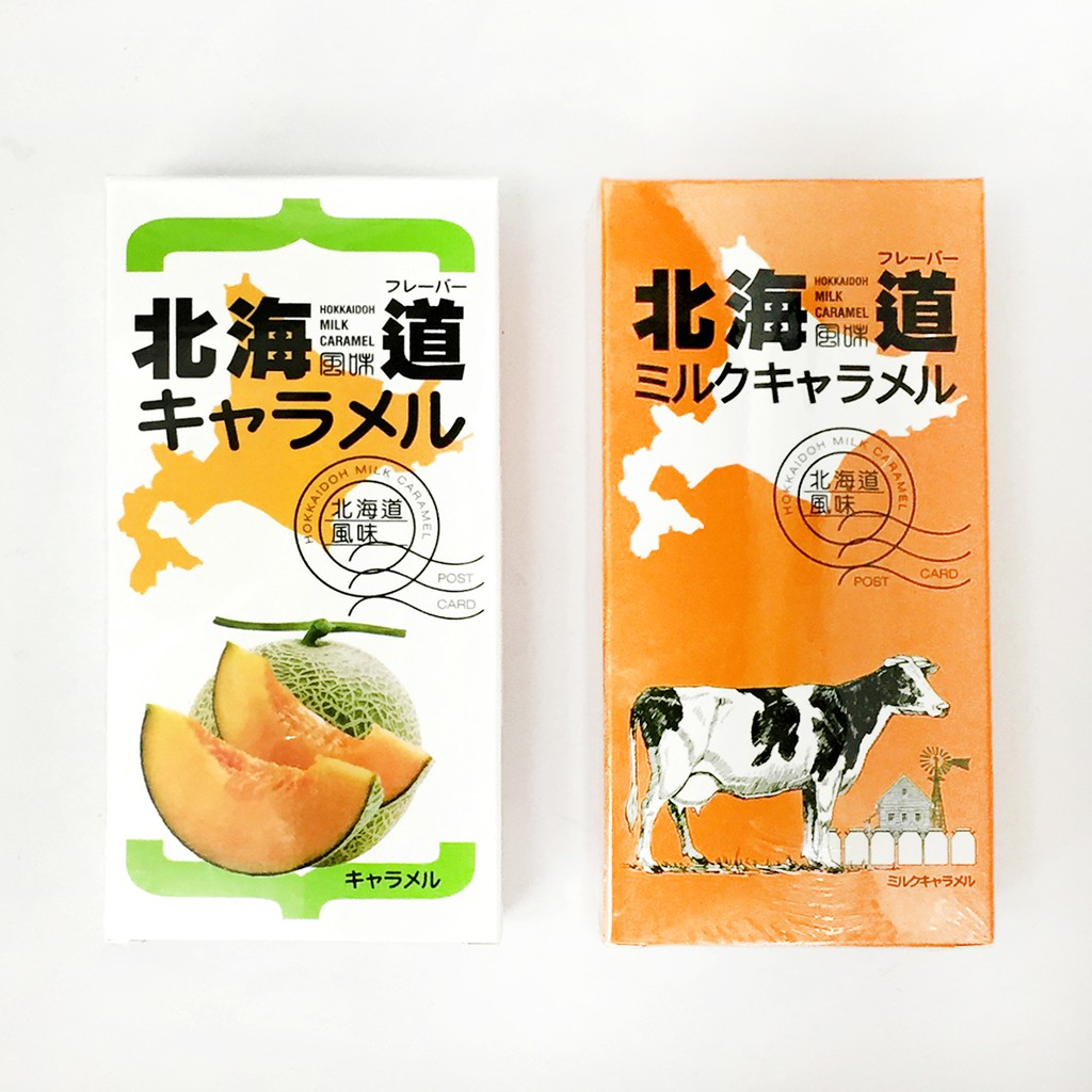 宮田製菓北海道牛奶糖-原味/哈密瓜 150g