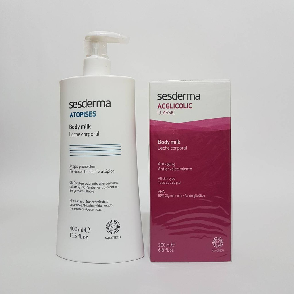 Sesderma賽斯黛瑪TRX傳明酸超美白進化身體乳400ml +果酸煥白活膚身體乳200ml 超值組合