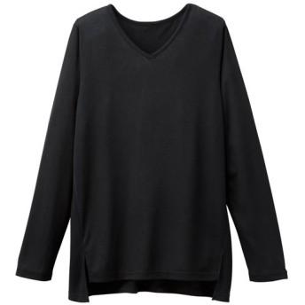 50%OFF【レディース大きいサイズ】 Vネックプルオーバー ■カラー:ブラック ■サイズ:3L