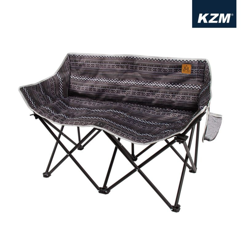 KAZMI KZM 彩繪民族風月亮雙人折疊椅【露營狼】