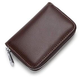 ZAKALE クレジットカードケース 本革 スキミング防止 メンズ レディース (コーヒー)
