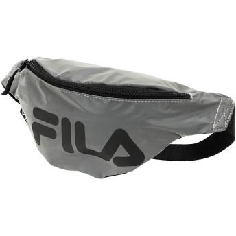 《セール開催中》FILA HERITAGE Unisex バックパック&ヒップバッグ シルバー ポリエステル 100% WAIST BAG SLIM REFLECTIVE