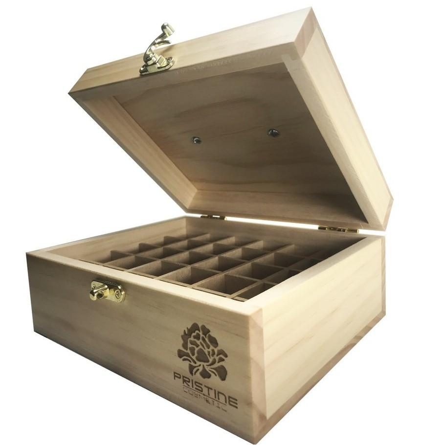 【潘絲緹PRISTINE】精油珍藏手工木盒10mlx30格