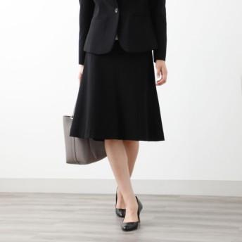 SALE【アマカ(AMACA)】 【XSサイズ〜】【LADY SKIRT】メランジポンチ スカート ブラック