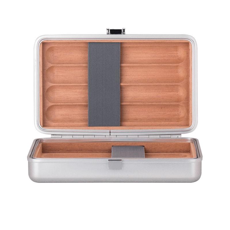 5Cgo【鴿樓】酷麥裝備PANUM ROVER全鋁鎂合金雪茄盒煙盒收納盒盒子八格正裝簡約大氣 58827790836