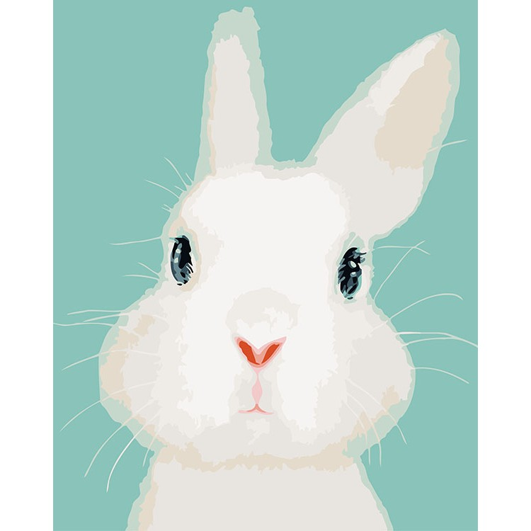 ArtLife 藝術生活 DIY 數字 油畫 彩繪 66504 呆萌兔兔 40X50cm 現貨