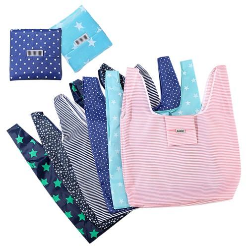 韓版文青環保印花折疊購物袋(1入)【小三美日】款式隨機 D020783