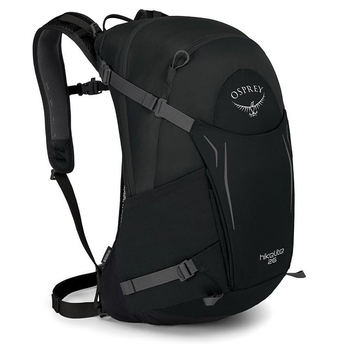 【Osprey 美國】Hikelite 26 運動背包 健行背包 旅行背包 黑色 (Hikelite26)