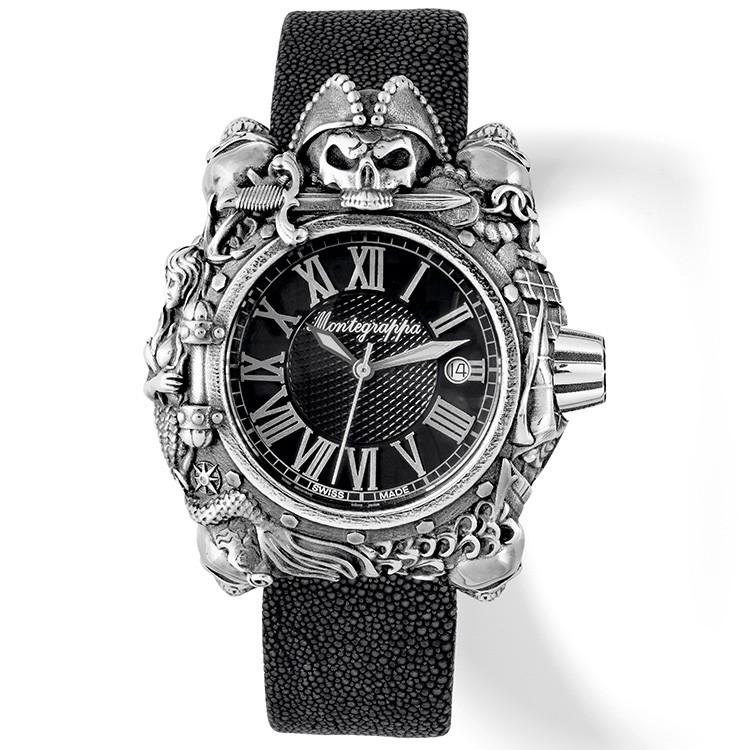 Montegrappa 海盜限量自動機械錶款 - Pirates Watch (純銀款)