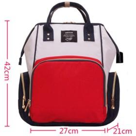 多機能のミイラバッグファッション大容量バックパックおむつおむつバッグ母子パッケージ 赤白青