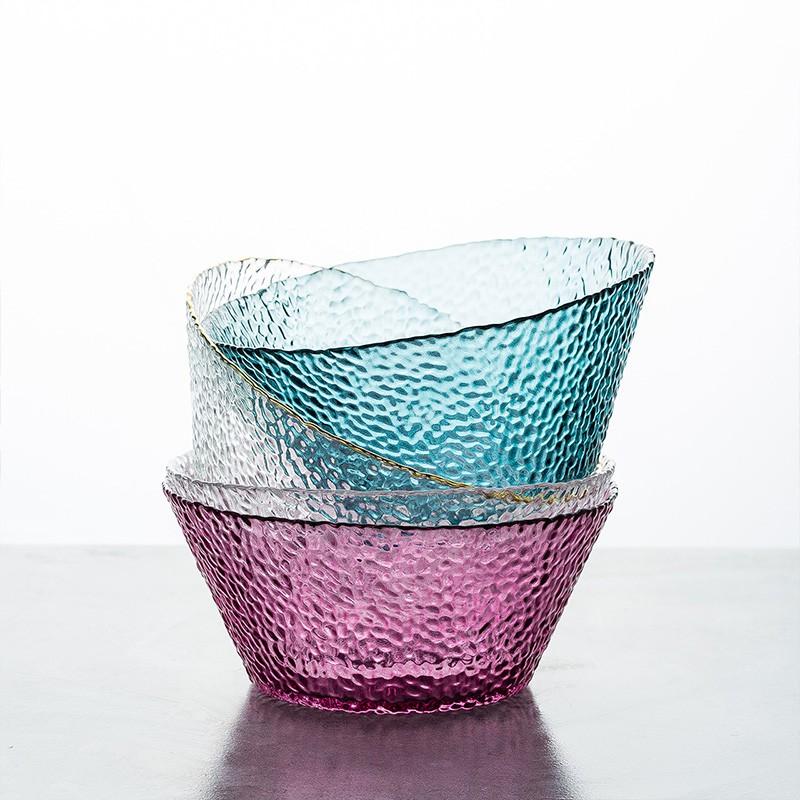 摩登主婦 北歐玻璃沙拉碗 水果碗家用燕窩甜品碗大號透明創意早餐具